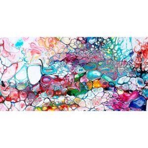 Prime I lærredstryk – abstrakt kunst til væggen i stuen