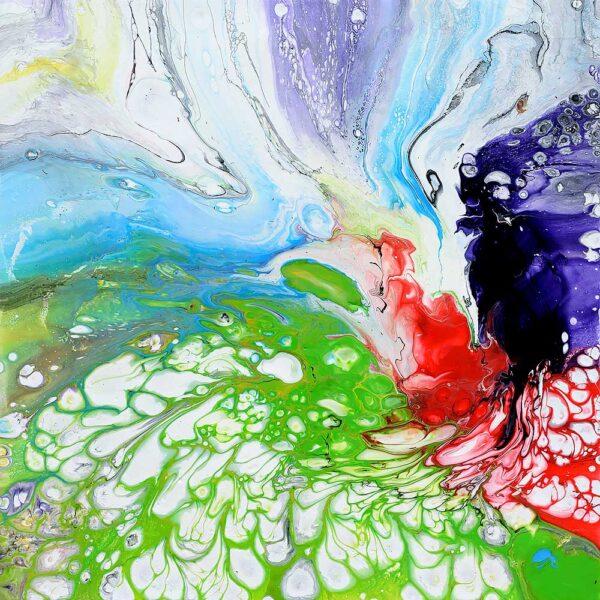 Skønt lille maleri i dejlige farver - Awaken I