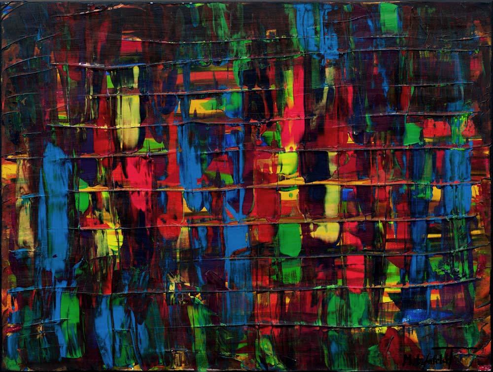 Farverigt maleri i moderne abstrakt stil - Fireflies I