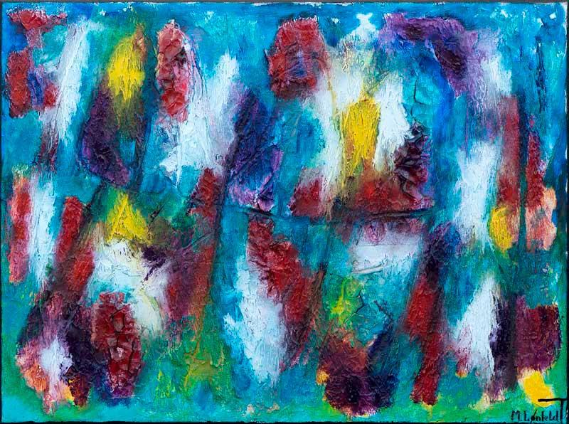 Maleri i skønne farver - Horizon II