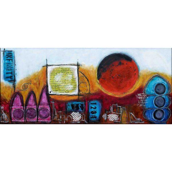 Moderne abstrakt kunst til væggen - Ignite I