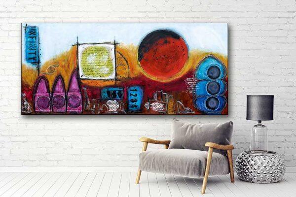 Moderne kunst til væggen i stuen - Ignite I