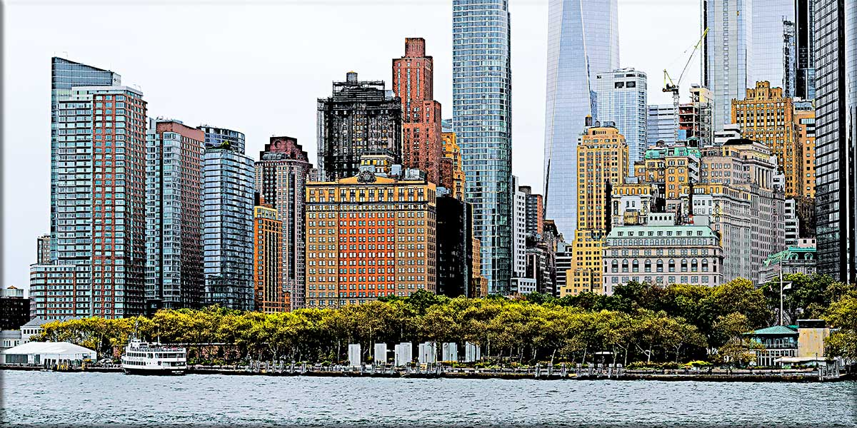 Store plakater med storbysmotiv - Skyline I