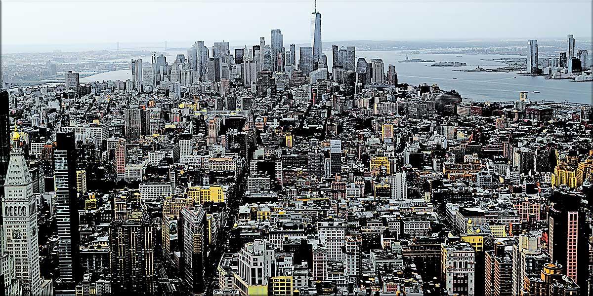 Stor plakat med bymotiv - Skyline II