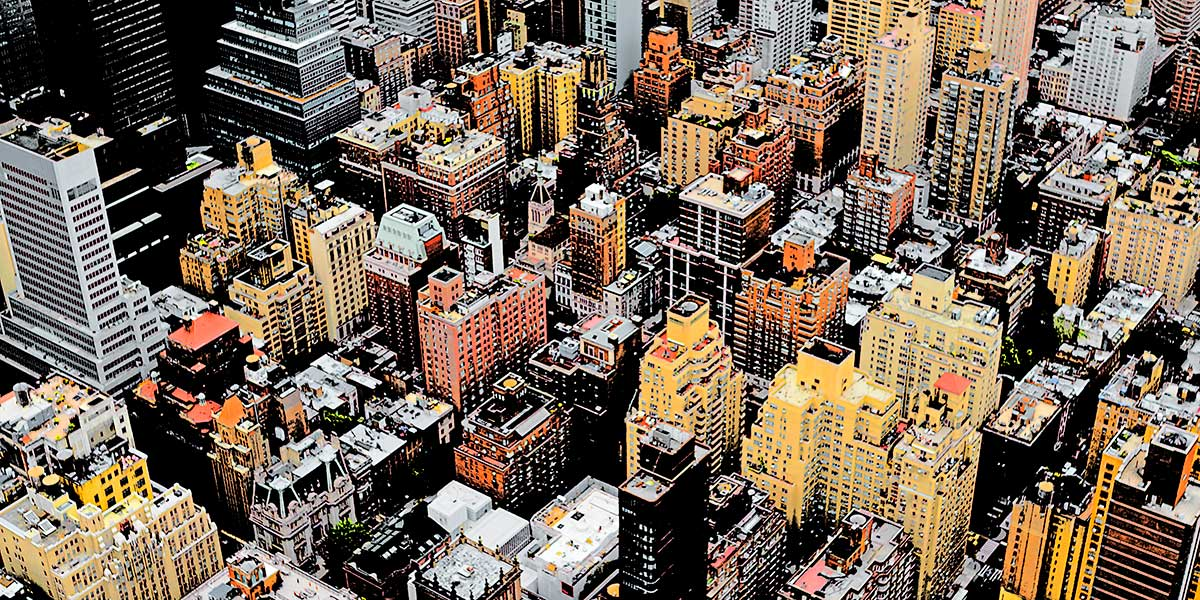 Stor fotoplakat - Skyline IV