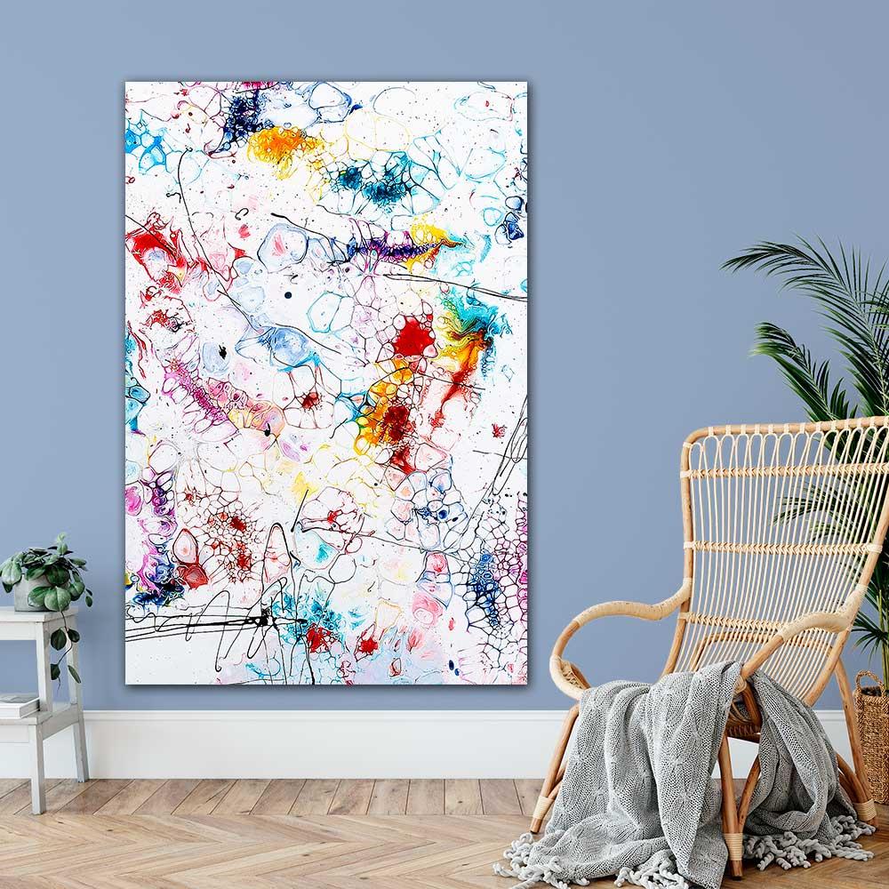 Stor kunstplakat i flotte farver til stuen Elevation II 100x150 cm