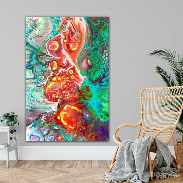 Flotte farverige store kunstplakater til væggen Organic I 100x150 cm