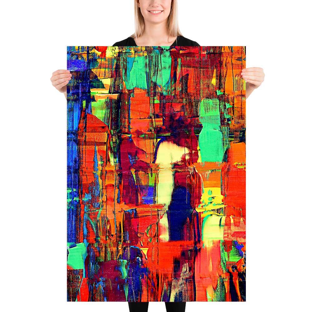 Plakater med kunst til stuen soveværelset køkkenet entréen Fireflies II 70x100 cm