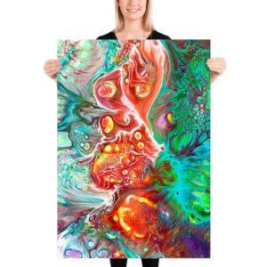 Plakat kunstplakat kunsttryk Organic I