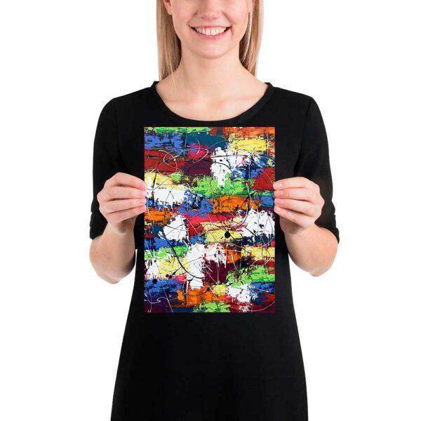 Lille kunstplakat Vibrant Moor I 20x30 cm