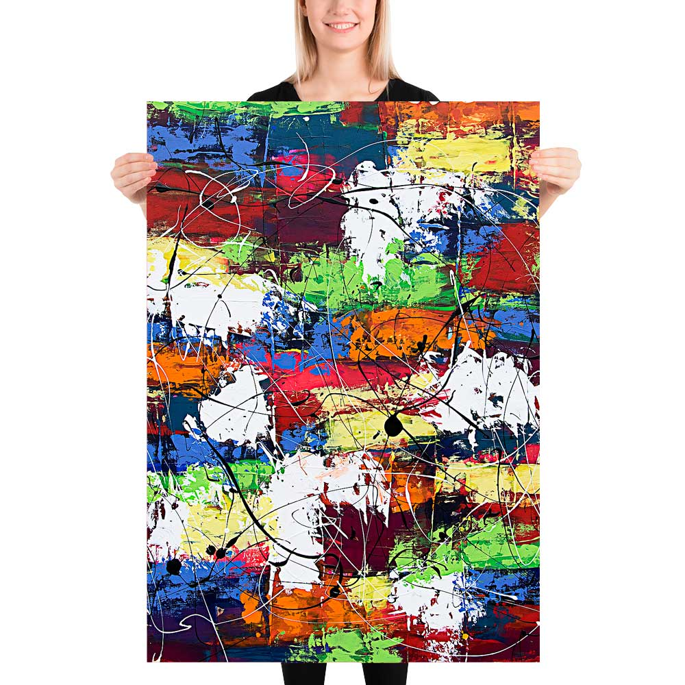 Abstrakte kunstplakater til stuen Vibrant Moor I 70x100 cm