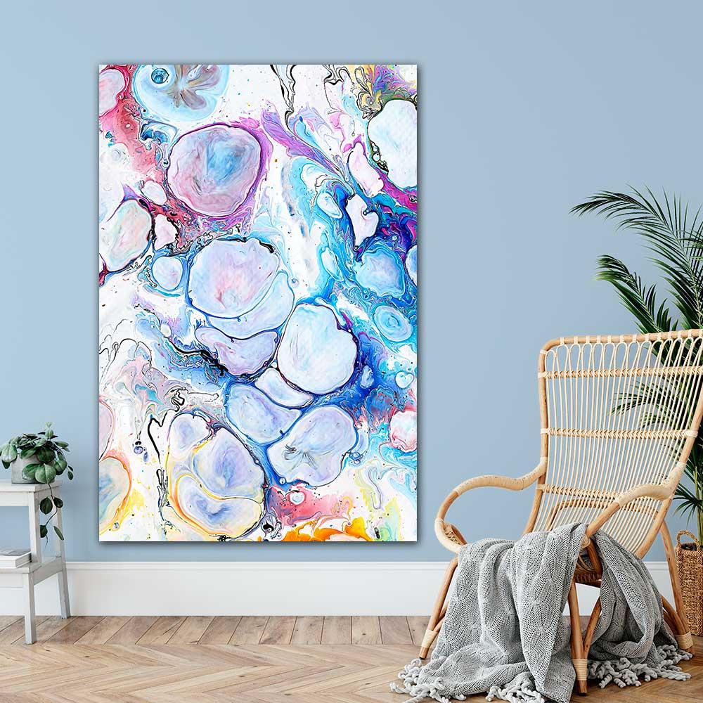 Store design kunst plakater til væggen i stuen, soveværelset, spisestuen, køkkenet, entréen og andre af hjemmets værelser - Alleviate I 100x150 cm