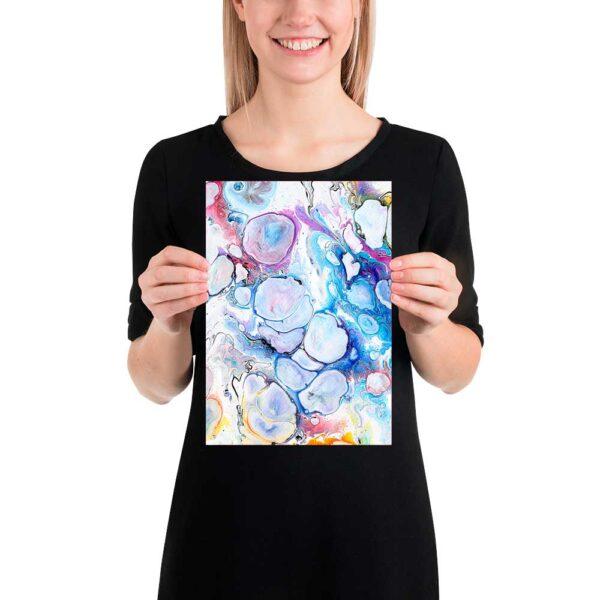 Moderne lille kunst plakat Alleviate I 20x30 cm