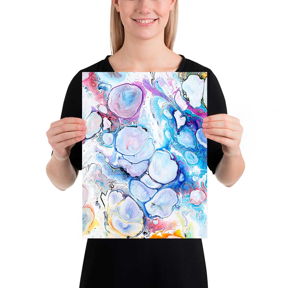 Kunst plakater i flotte farver Alleviate I 30x40 cm