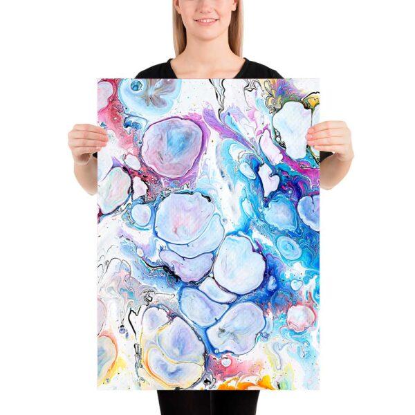 Plakat med abstrakt kunsttryk Alleviate I 50x70 cm