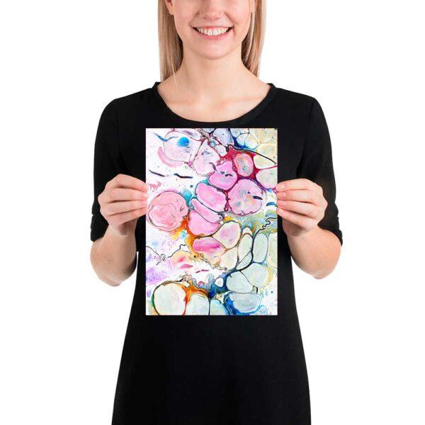 Abstrakt kunst plakat Alleviate II 20x30 cm