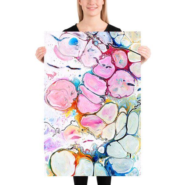 Farverig kunstplakat Alleviate II 60x90 cm