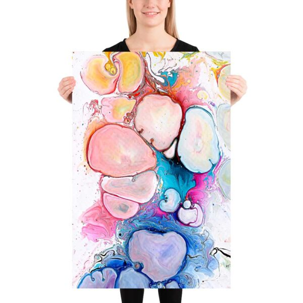 Farverige kunstplakater Alleviate III 60x90 cm