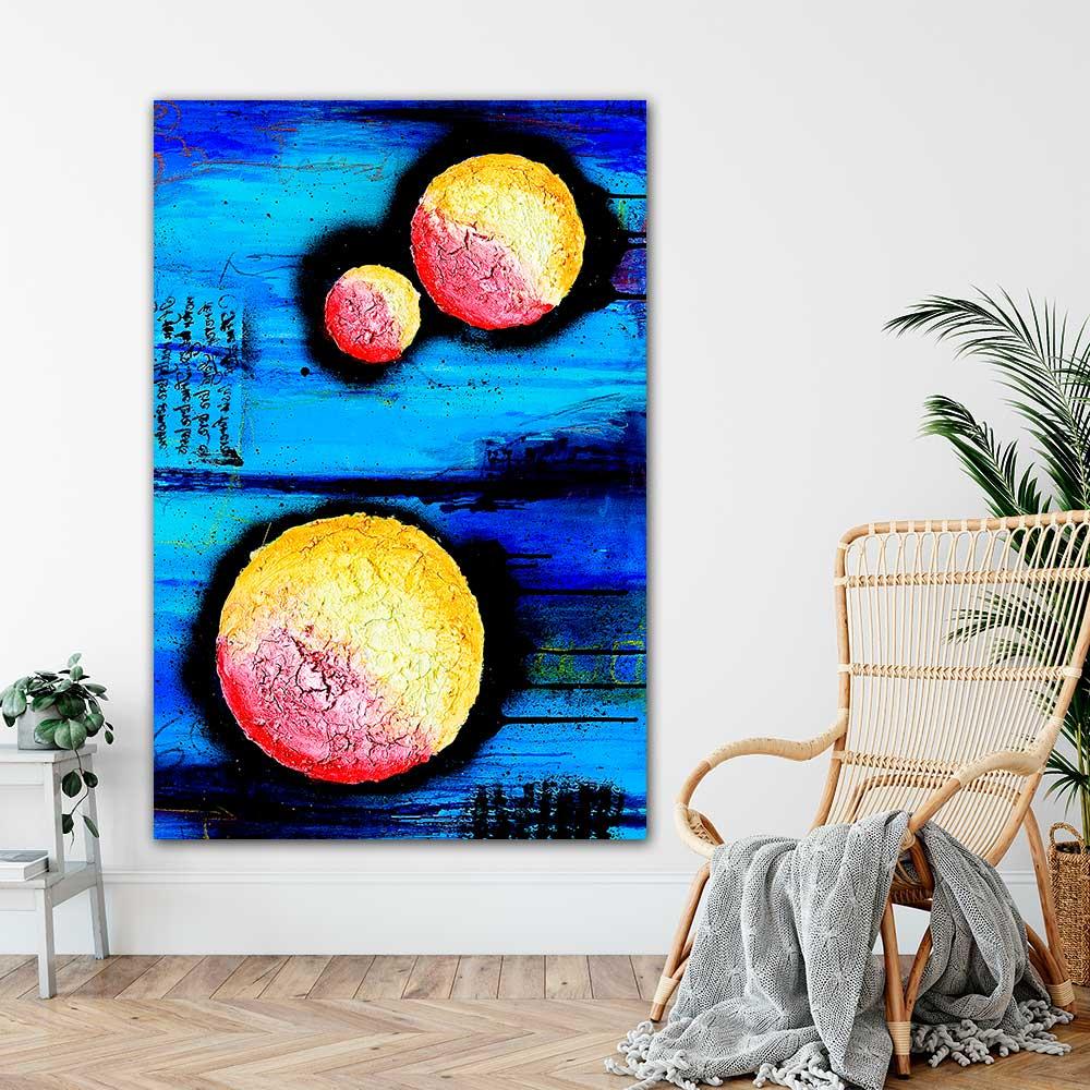 Store plakater med kunst giver en moderne afslappende stemning på væggene i stue, soveværelse, køkken og badeværelse Sphere I 100x150 cm