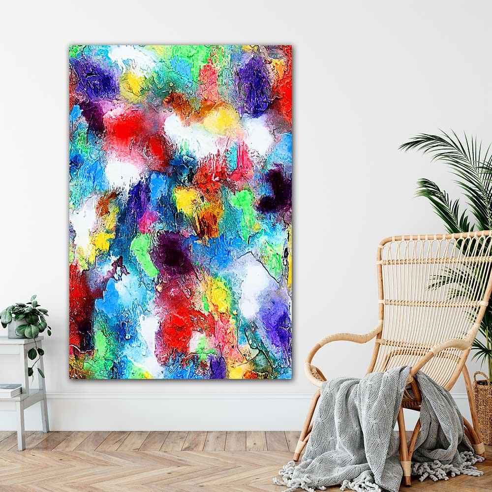 Store kunstplakater er moderne kunst på flotte billeder til væggen i stuen Alteration I 100x150 cm
