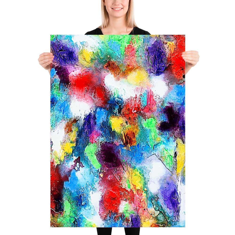 Plakater med kunst til væggen pynter i hjemmet og giver en behagelig afslappende atmosfære Alteration I 70x100 cm
