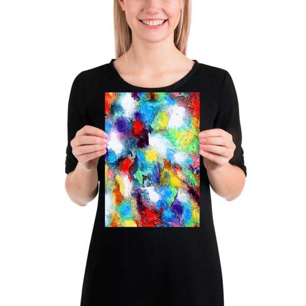Små kunst plakater med moderne abstrakte motiver og skønne farver er flot vægdekoration i boligen Alteration II 20x30 cm