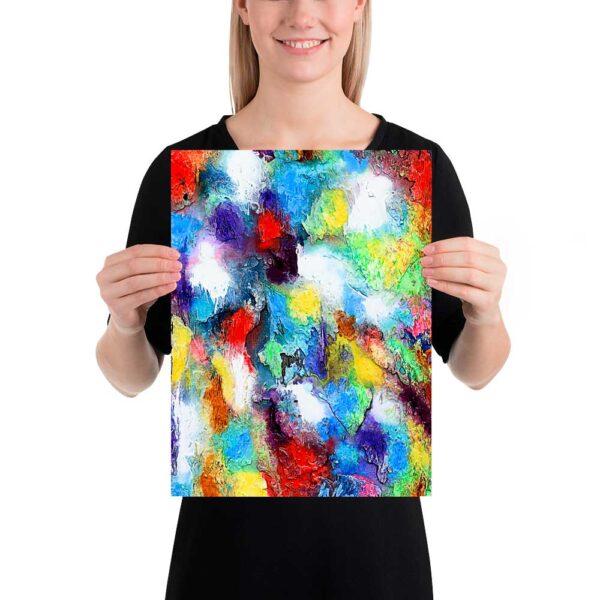 Mindre kunstplakater i flotte farver er perfekte til billedevægge i hjemmet - Alteration II 30x40 cm