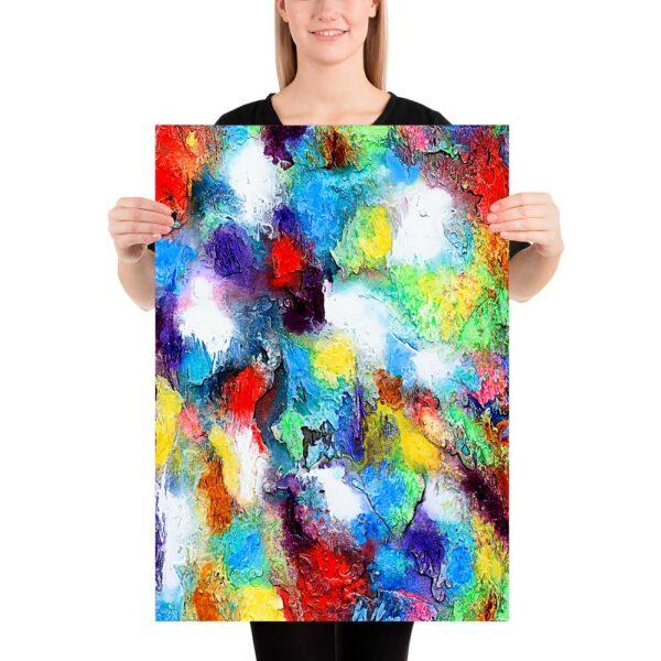 En kunstplakat med et abstrakt motiv er et moderne smukt billede til væggene i dit hjem - Alteration II 50x70 cm