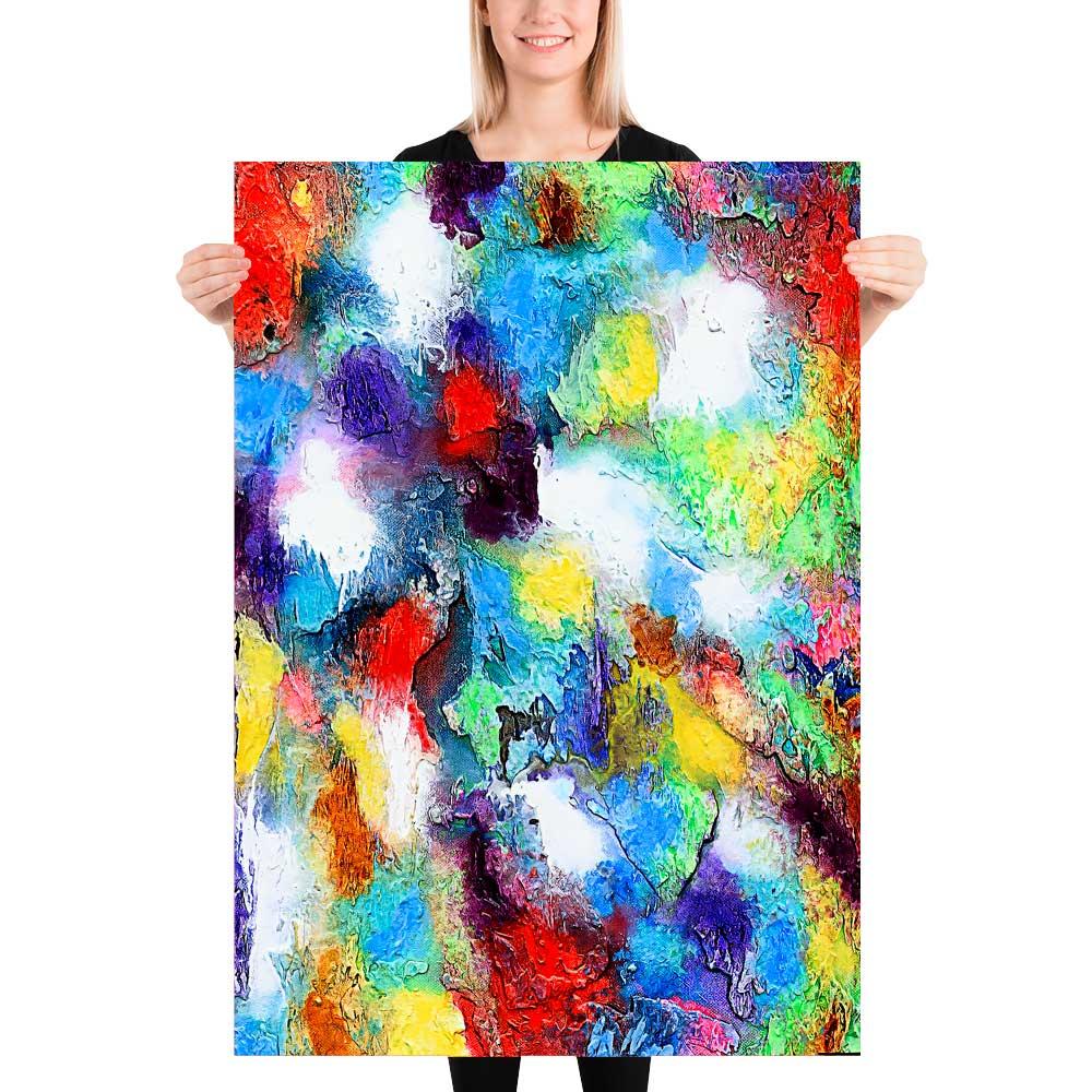 Kunstplakater med flotte farver er tidsløs abstrakt kunst der passer perfekt på væggen i moderne hjem - Alteration II 70x100 cm