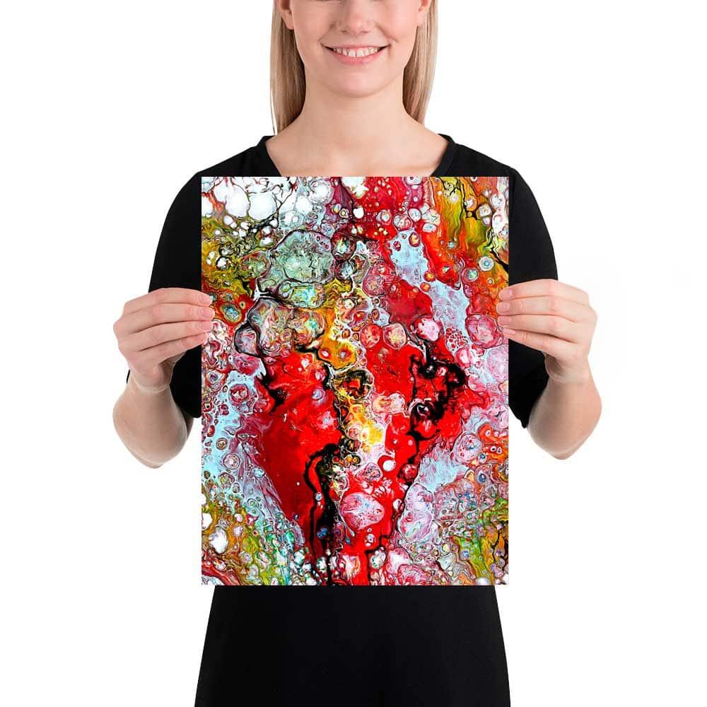 Plakater med kunst er moderne flotte billeder til væggen i stuen soveværelset og badeværelset - Essence I 30x40 cm