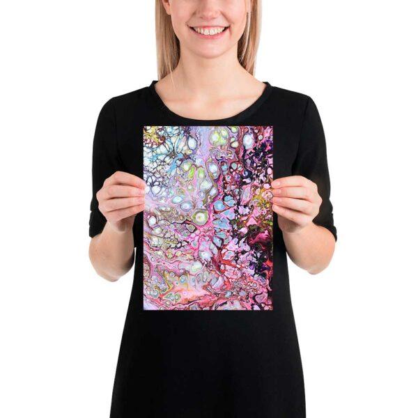Små plakater med kunstmotiver er velegnet til en flot billedvæg - Passion I 20x30 cm