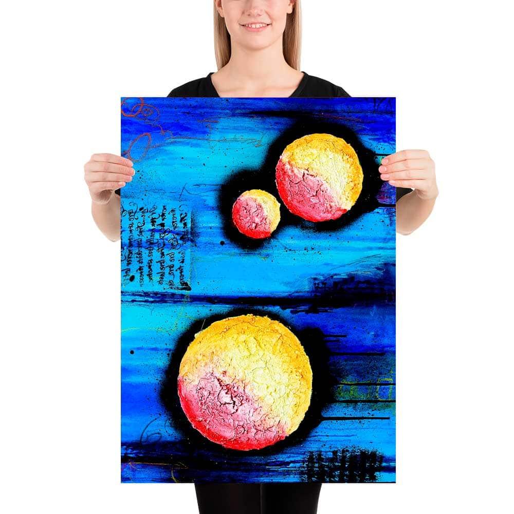Kunst plakater er en flot vægdekoration til virksomheden og væggene i kantine, kontor, mødelokaler og reception Sphere I 50x70 cm