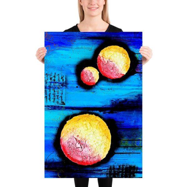 Plakater med moderne farverig kunst giver rolige og afslappende omgivelser hos bank, revisor, advokat og bureau Sphere I 60x90 cm