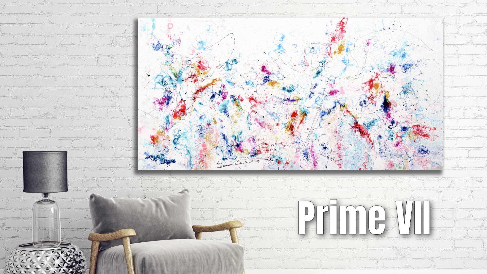Prime VII maleri - store abstrakte malerier er abstrakt kunst der passer perfekt på væggen i stuen