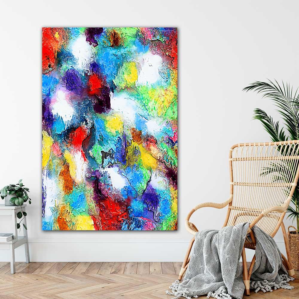 Kæmpe kunstplakater er moderne abstrakt kunst som sætter sit personlige præg i din indretning - Alteration II 100x150 cm