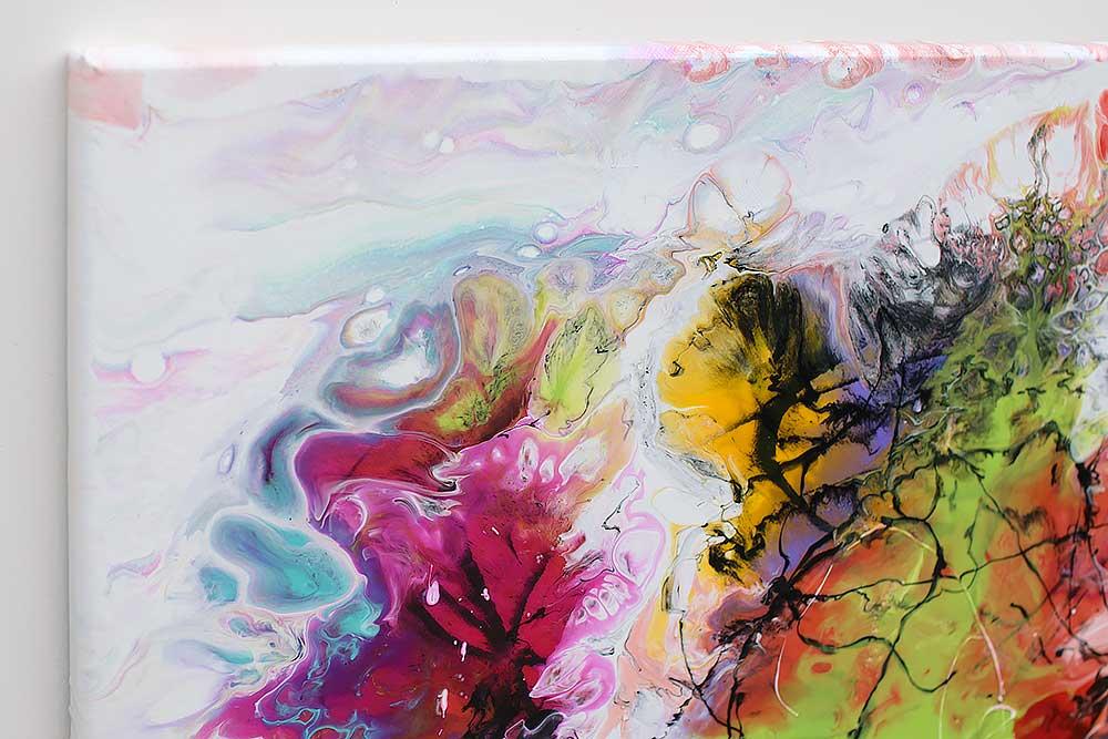 Abstrakte malerier er moderne kunst til hjemmet og dets vægge - Fusion I - 70x140 cm