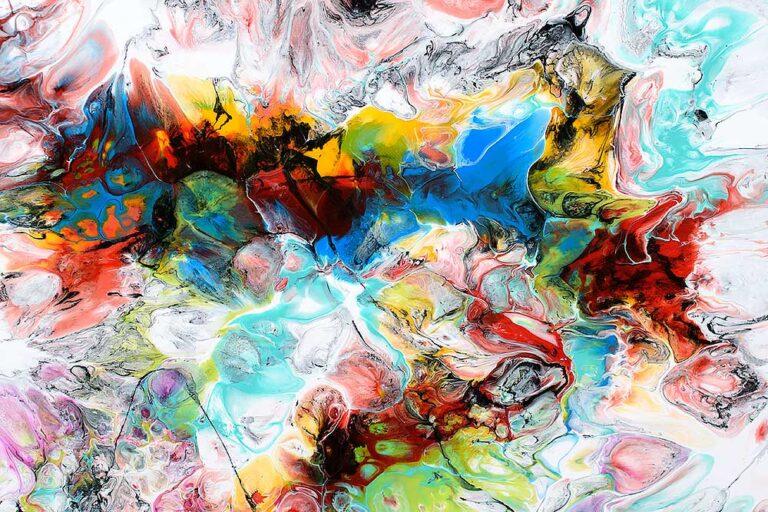 Moderne malerier er flot abstrakt kunst - Fusion V 70x140 cm