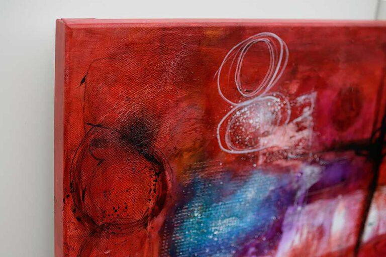 Store malerier er smuk moderne kunst til væggen - Intuition I - 100x150 cm