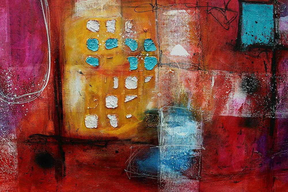 Store malerier til hjemmet - Intuition I - 100x150 cm