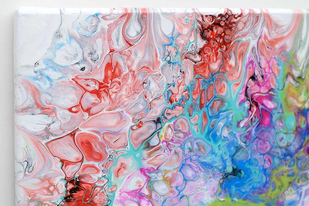 Store moderne malerier i flotte farver - Fusion III 70x140 cm