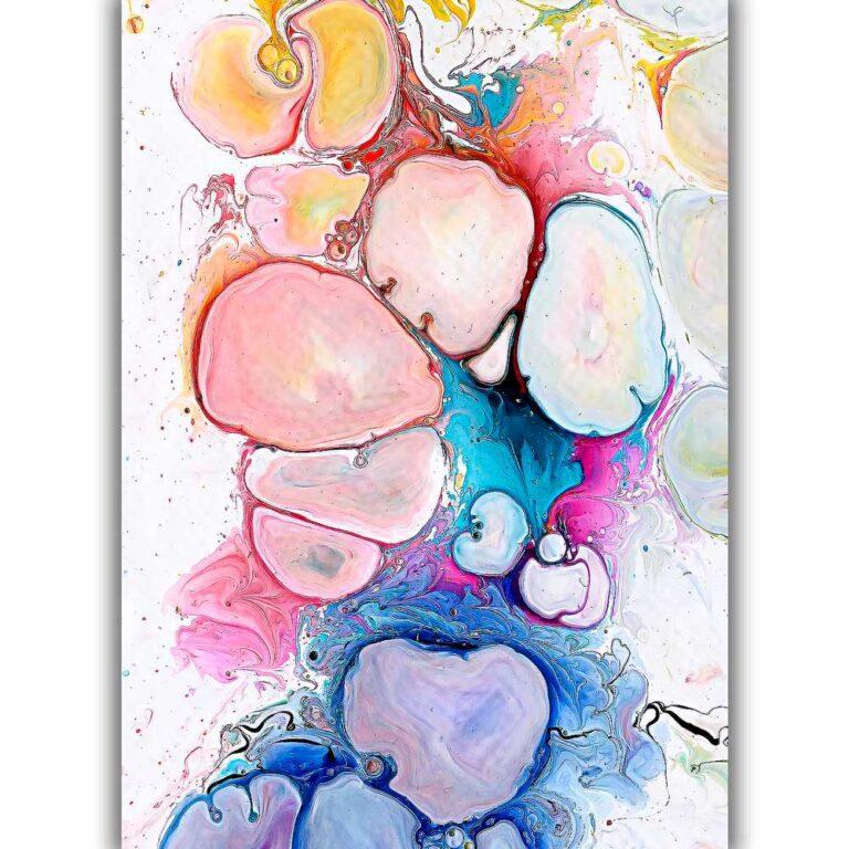 Store moderne abstrakt farvestrålende kunst plakater - Alleviate III