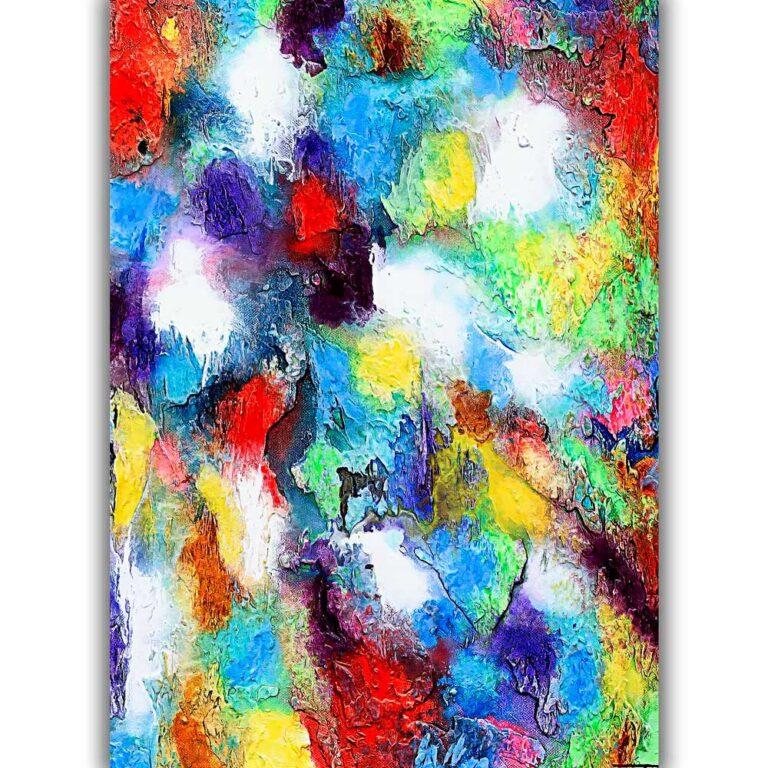 Kunstplakater med flotte farver er tidsløs abstrakt kunst der passer perfekt på væggen i moderne hjem - Alteration II
