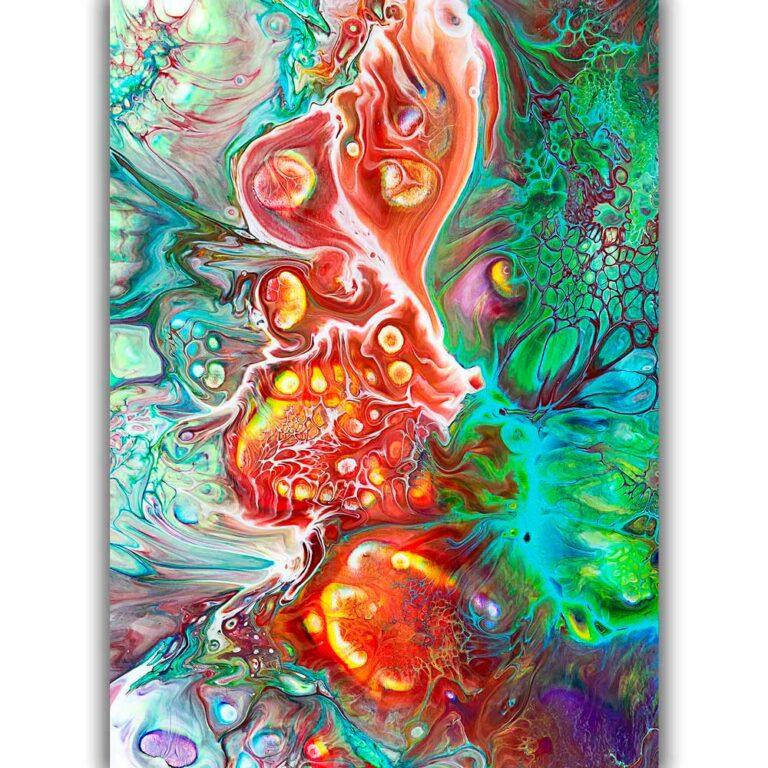 Kunst plakater i dejlige farver i et smukt tidsløst abstrakt design - Organic I