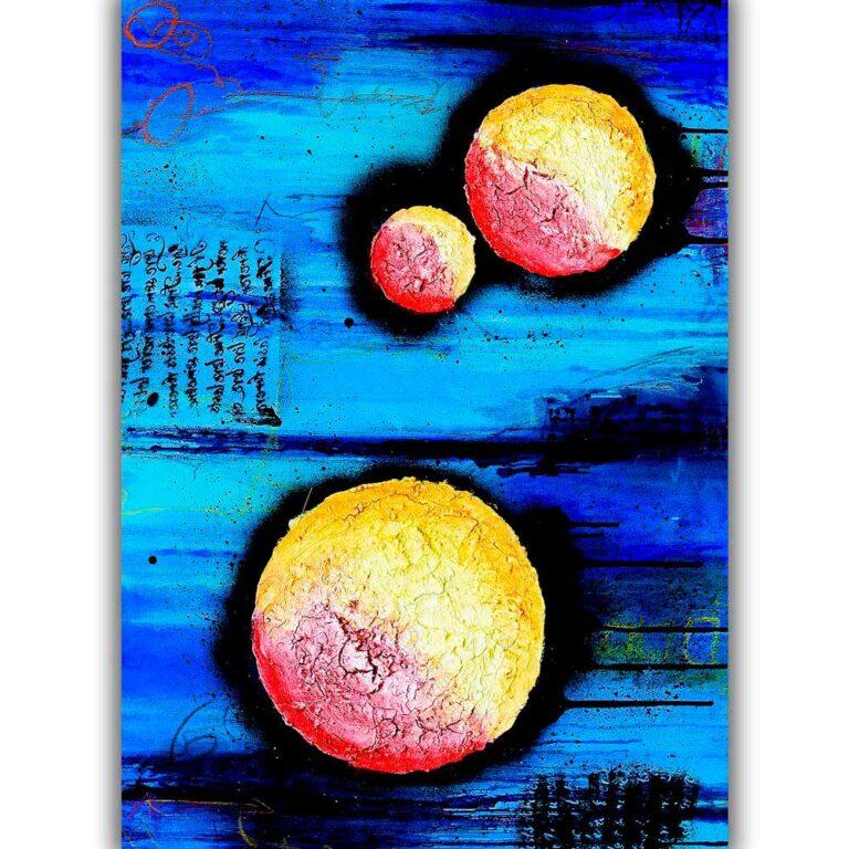 Kunstplakater er flot abstrakt kunst med flotte store billeder til væggen i stuen Sphere I
