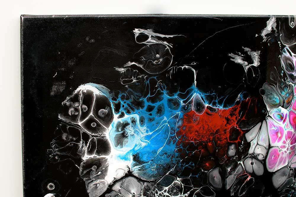 Store farverige malerier er flot kunst til væggen - Lights II 100x100 cm