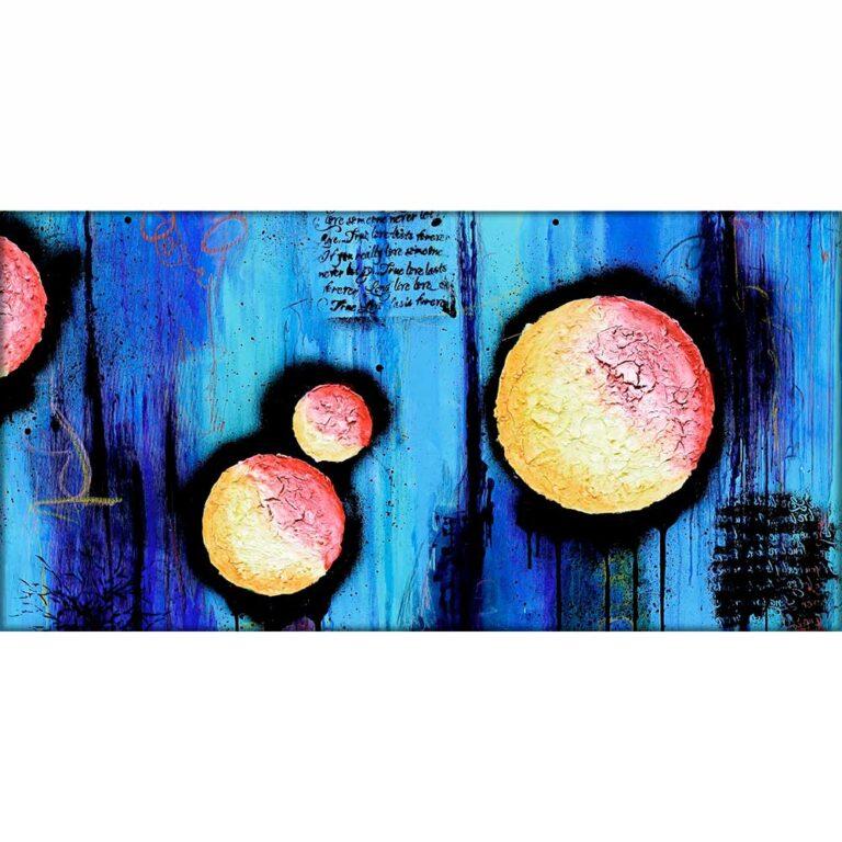 Print på lærred i dejlige farvenuancer - Sphere II 70x140 cm