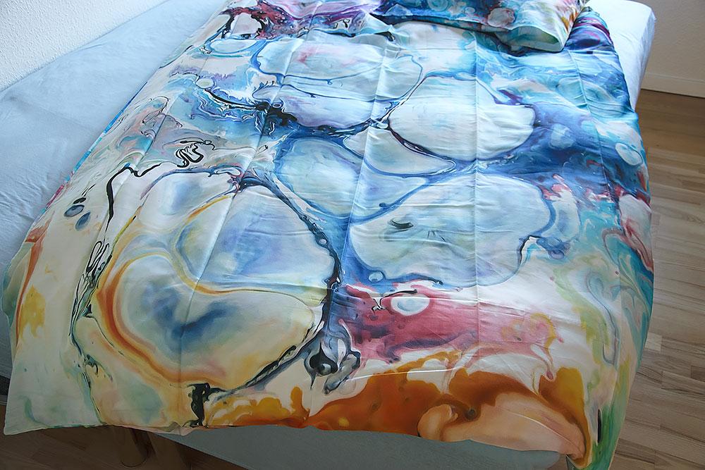Sengesæt sengelinned sengetøj med kunst - Alleviate I af Michael Lønfeldt