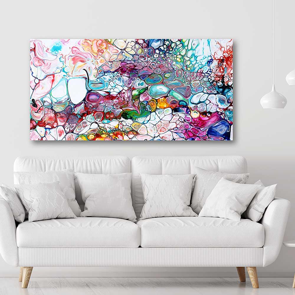 Store lærredstryk er flotte kunst billeder til væggen i stuen - Prime I 70x140 cm