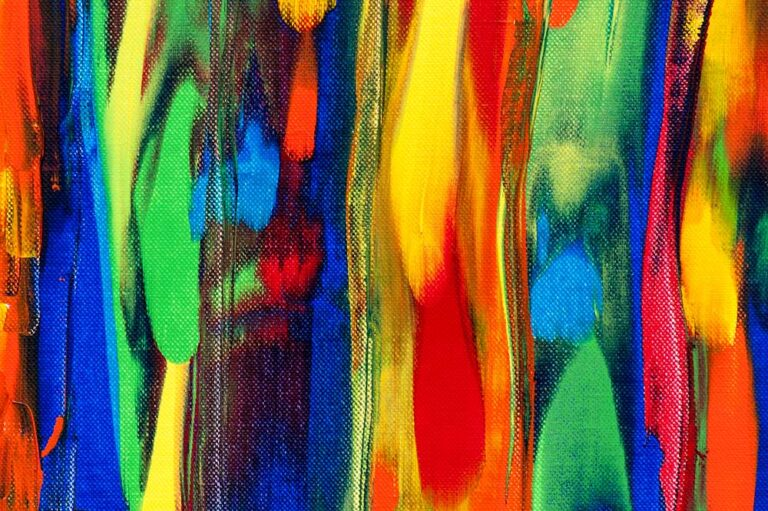Abstrakt maleri i farver - Tribal Colors III 120x40 cm