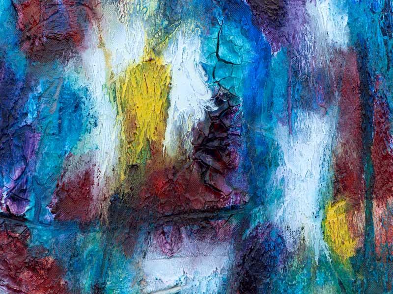 Akrylmalerier med livlige farver - Horizon II 80x60 cm